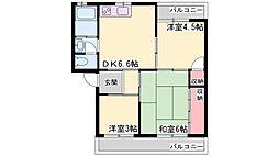 明伸第1ビル[2階]の間取り