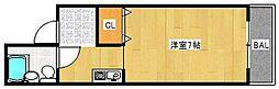 大橋マンション[203号室]の間取り