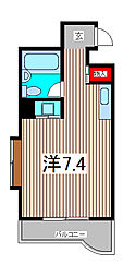 ハイムフローラ西川口[3階]の間取り