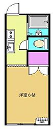 コーポラブリーC[103号室]の間取り