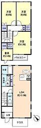 [テラスハウス] 千葉県八千代市八千代台南3丁目 の賃貸【千葉県 / 八千代市】の間取り