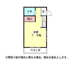 愛知県一宮市今伊勢町宮後字東茶原の賃貸アパートの間取り