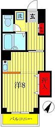 ラフィーヌ池田5番館[1階]の間取り