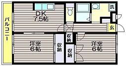 東京都世田谷区北烏山7の賃貸アパートの間取り