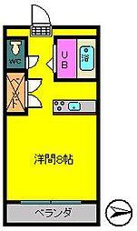 ラパン吉尾[2階]の間取り