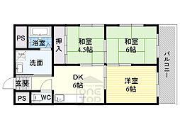 新栄プロパティー千林2 5階3DKの間取り