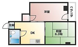 アベノ阪南マンション[204号室]の間取り