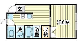 イトーピア忍町[402号室]の間取り
