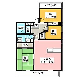 清幸マンション野田[9階]の間取り