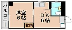 第一占部ビル[2階]の間取り