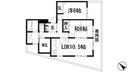ロイヤルハウス萩原[1階]の間取り