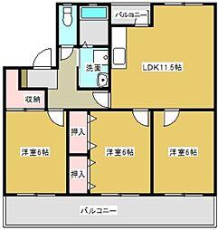 プレジデントタカヤ5[1階]の間取り