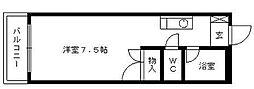 メゾンスコール[406号室]の間取り