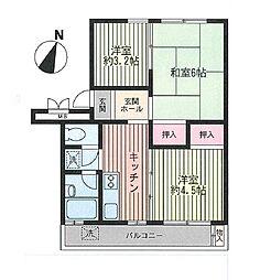 戸塚富士見丘ハイツF棟[401号室号室]の間取り
