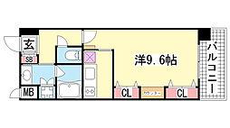 KAISEI新神戸第2WEST[5階]の間取り