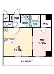 阪急千里線 吹田駅 徒歩8分の賃貸マンション 5階1LDKの間取り