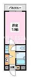 小阪駅前ヴィラデステ[4階]の間取り