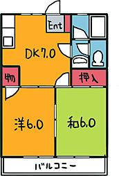 第一コーポタナカ[2階]の間取り
