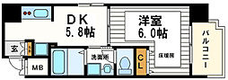 大阪府大阪市中央区谷町6丁目の賃貸マンションの間取り