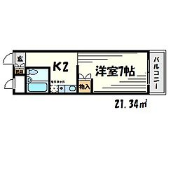 ヴィラ11[3階]の間取り