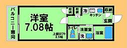 東京都八王子市兵衛1丁目の賃貸アパートの間取り