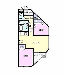 VIP桜井II[101号室]の間取り