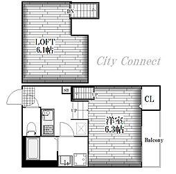Lumo庄内通[1階]の間取り
