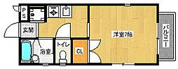 京都府京都市北区出雲路松ノ下町の賃貸アパートの間取り