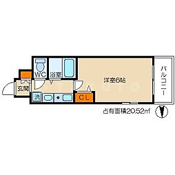 エスリード東梅田[3階]の間取り