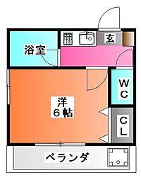 エステート神谷[1階]の間取り