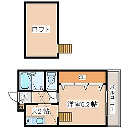 兵庫県神戸市中央区山本通3丁目の賃貸アパートの間取り