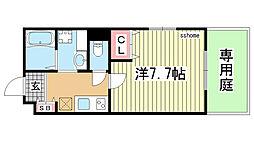 兵庫県神戸市中央区八雲通5丁目の賃貸アパートの間取り