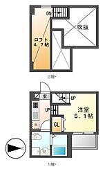 コンソラージュ岩戸[1階]の間取り