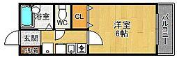 サンライズ西宮[1階]の間取り