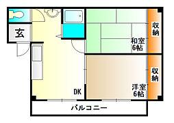 谷田有馬マンション[4階]の間取り