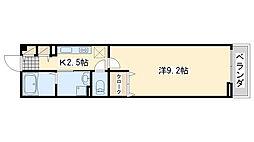 JR阪和線 日根野駅 徒歩5分の賃貸アパート 2階1Kの間取り