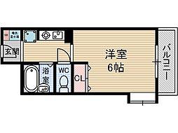 スチューデントパレス茨木[2階]の間取り