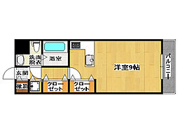 福岡県福岡市博多区上川端町の賃貸マンションの間取り