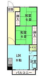 西松本マンション[4階]の間取り