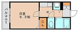 ライオンズマンション県庁東[3階]の間取り
