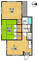 松葉苑[2階]の間取り