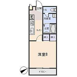 愛知県岡崎市天白町字吉原の賃貸アパートの間取り