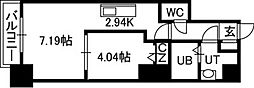 北海道札幌市中央区南四条西13の賃貸マンションの間取り