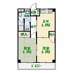 東京都葛飾区高砂2丁目の賃貸マンションの間取り