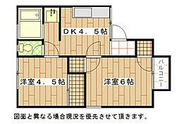 福岡県北九州市小倉北区篠崎5丁目の賃貸アパートの間取り