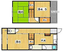 [テラスハウス] 大阪府枚方市町楠葉1丁目 の賃貸【/】の間取り