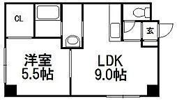 クレスト[3階]の間取り