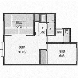 ローブ43[2階]の間取り