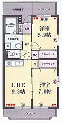 サンロード伊豆[1階]の間取り