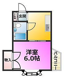マンションビビット[1階]の間取り